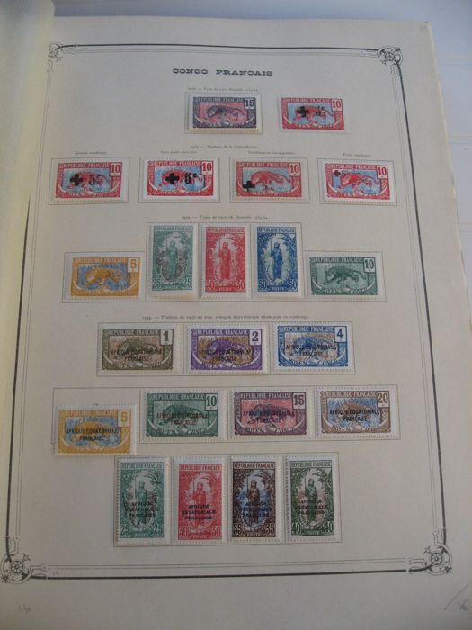 Ex-Colonie Française 1891/1933 - Advanced collection of stamps including tax and air