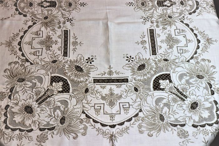 Banquet tablecloth from Madeira Island - Portugal - 1 - Linen