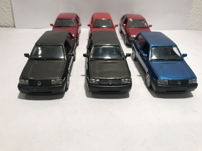 Schabak - 1:43 - Lot with 6 Volkswagen Polo  - Made in Germany