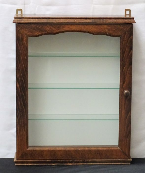 Square wooden Dutch display cabinet, the Netherlands, second half 20th century