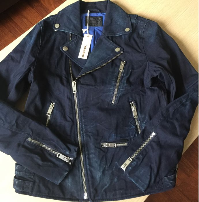 Diesel  - New - Zippers - Made in Italy - NO RESERVE PRICE - Never Used - Biker Jacket