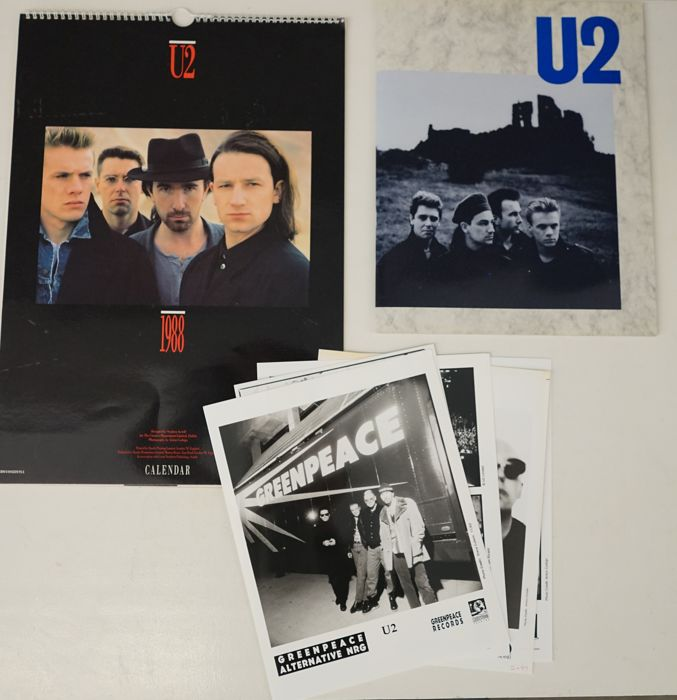 Steve Colletti, Jim Rinaldi and Anton Corbijn - U2 pressphoto's + tourbook + calendar