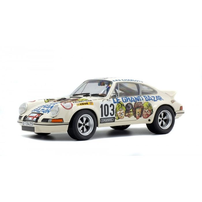 "Solido - 1:18 - Porsche 911 RSR ""LE GRAND BAZAR""  - TOUR DE FRANCE AUTO 1973"
