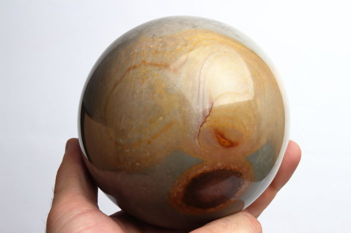 kwarts Good Quality Large polished Jaspis sphere - 11.24 en omtrek 35.30 cm - 1925 gram