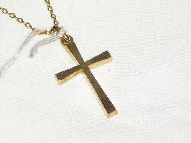 Cross - on an 800 silver chain - both gold-plated
