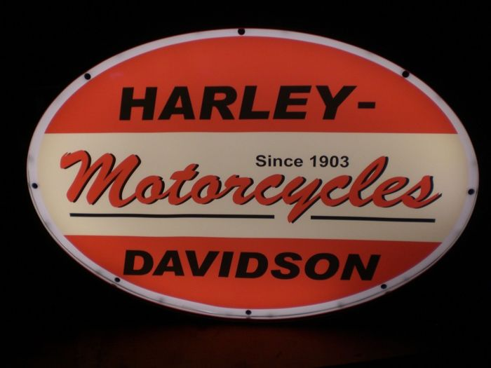 Sign - Harley Davidson Motorbike Garage Advertising Sign