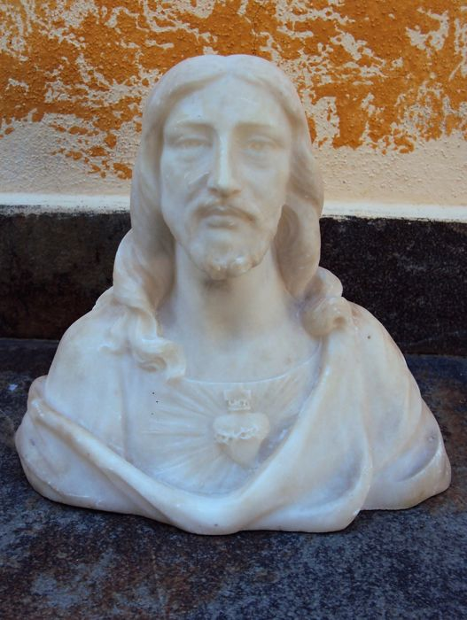 Marble sculpture - sacred heart of Christ - France - early 1900s