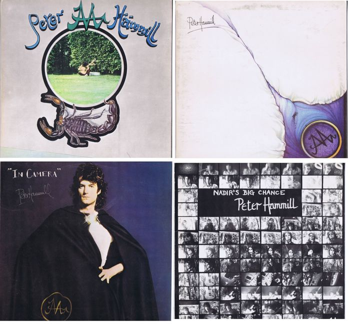 PETER HAMMILL - 4 LP's: Chameleon In The Shadow Of The Night (1973), In Camera (1974), The Silent Corner And The Empty Stage (1974), Nadir's Big Chance (1975) Van Der Graaf Generator