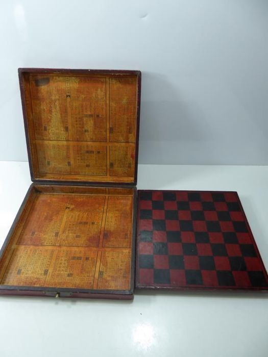 Antique Chinese Gaming Board In Storage Box 19th Century