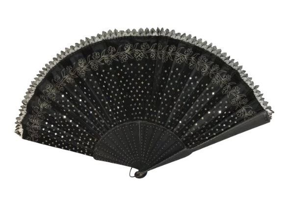 A fan including the original case from Grands Magasins du Louvre - France Circa 1930 - 1940