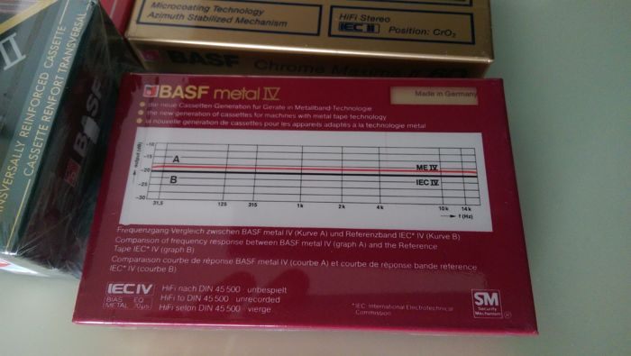 BASF Tape Collection:  17 Mint and sealed BASF Tapes