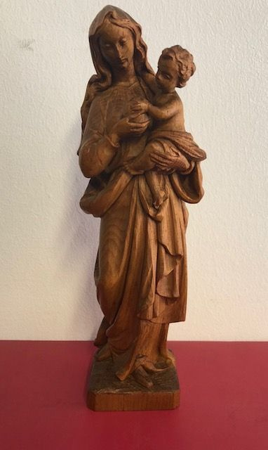 Wooden sculpture of Our Lady with Child - late 19th century-early 20th century