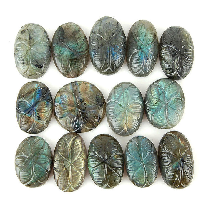 Labradorite Mineral Collection - 2,8 - 3,2 cm - 111,4 Gramm - (14)