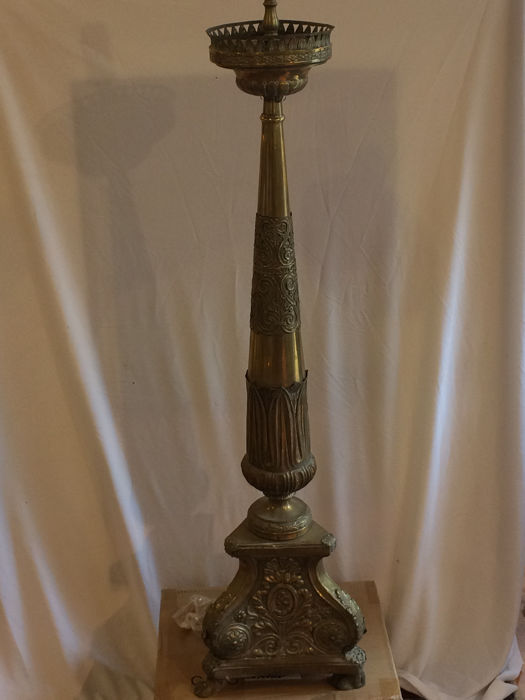 Candlestick or altar candle holder of Venetian origin Neo-classical style, 19th century.