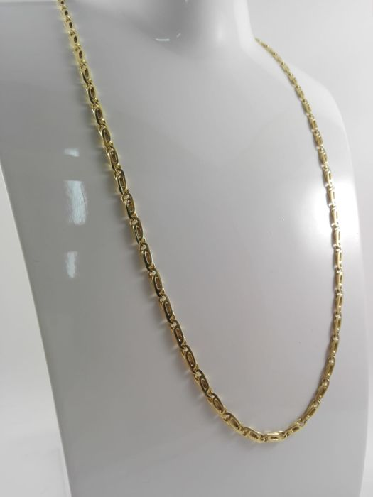 "Men's ""Chini"" necklace in 18 kt yellow gold Weight 28.3 g"