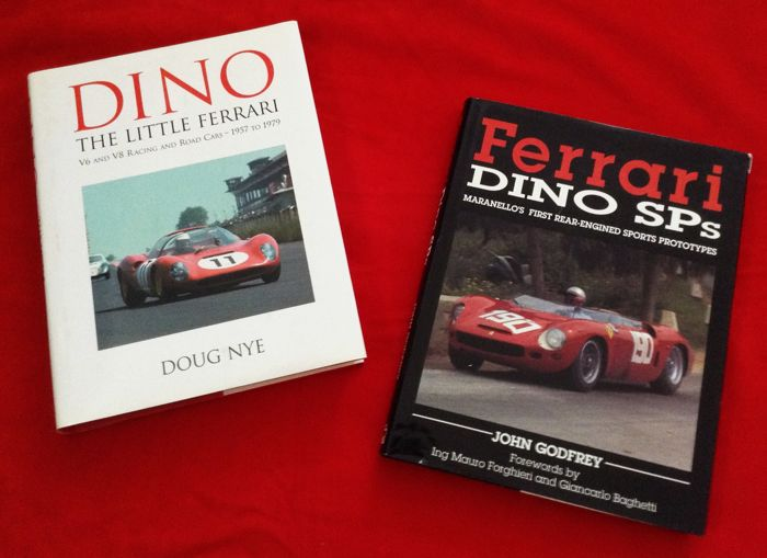 Books - rare Ferrari Dino Sps + Dino The Little Ferrari  - 1990-2004 (2 items)