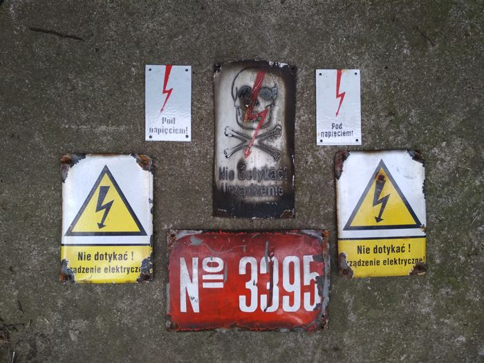 Warning signs - Enamel - Poland, 50's & 70's