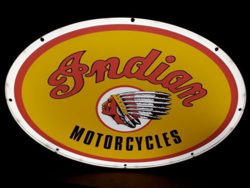 Sign - Indian Motorbike Garage Advertising  - 1 (1 items)