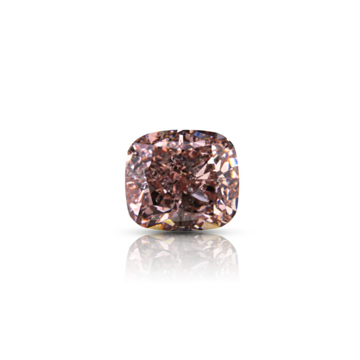 0.50 ct. Natural Fancy Orangy Pink Cushion shape Diamond, GIA certified