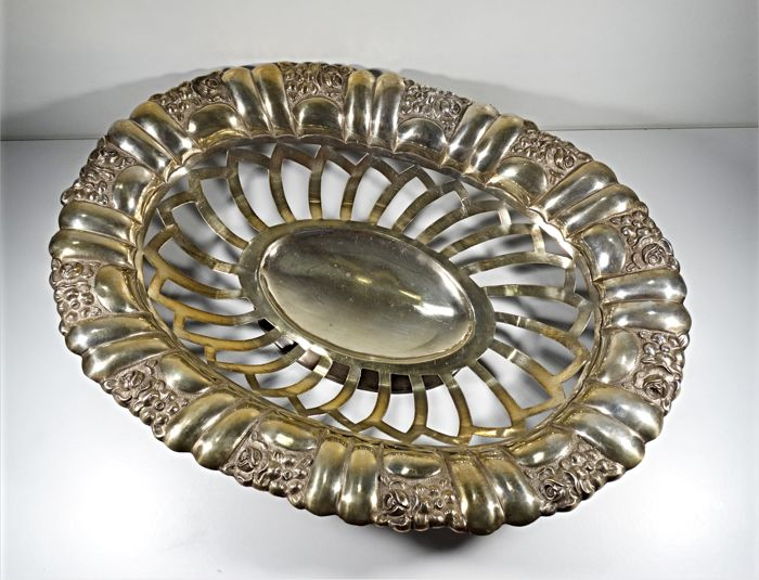 Large Footed Centerpiece Fruit Bowl Sterling Silver 541 Gram´s  ( 1937 )
