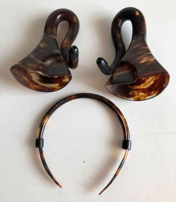 Ear trumpet for the deaf (known as Parisian trumpets