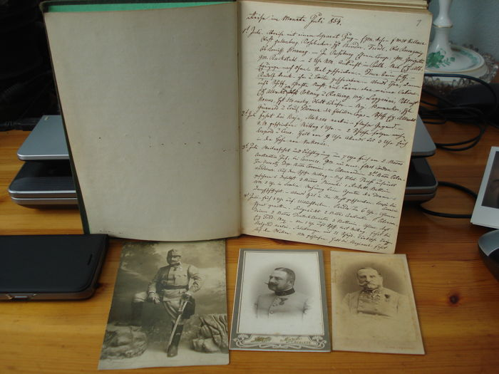 Photos and diary Rossbacher Rudolf Frh. von,  General K. u. K., 1806-1886