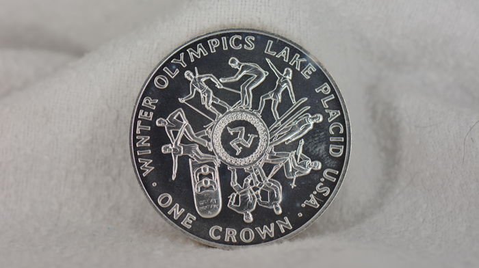 Man (Isle of Man) - Crown 1980 'Winter Olympics Lake Placid U.S.A' - Silver