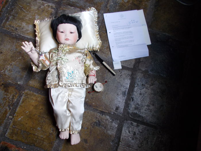 Chinese baby doll - the Imperial heir-Franklin Mint-1988 - bought on subscription - limited edition