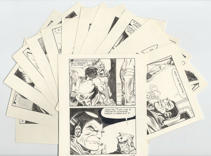 Fan #4 - Leone Frollo - 13x original pages - First edition (1979)