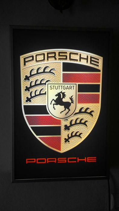 64/42/10cm -aluminium - PORSCHE - old light box - nice condition .