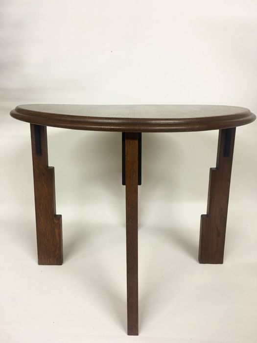 Oak Amsterdam school table, the Netherlands, ca. 1930
