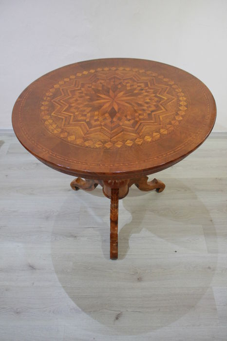 Rolo round table with inlays - Emilia, second half of 19th century