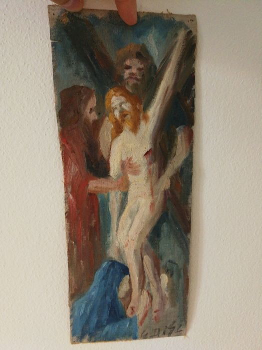 Oil Painting on Canvas - Deposition of Christ - Early 1900s