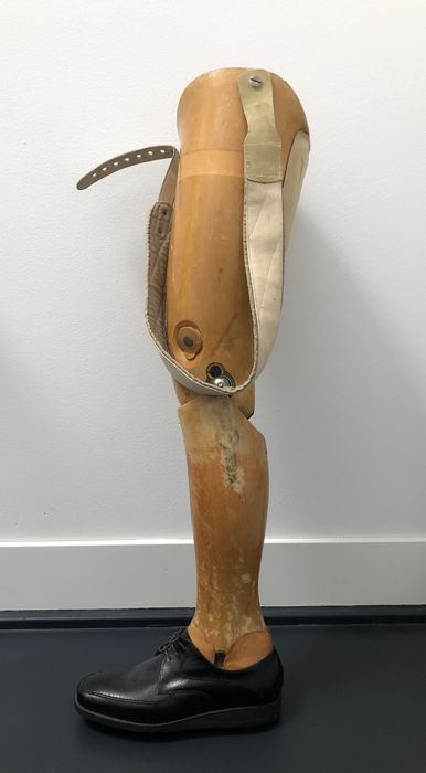 Antique wooden prosthetic leg