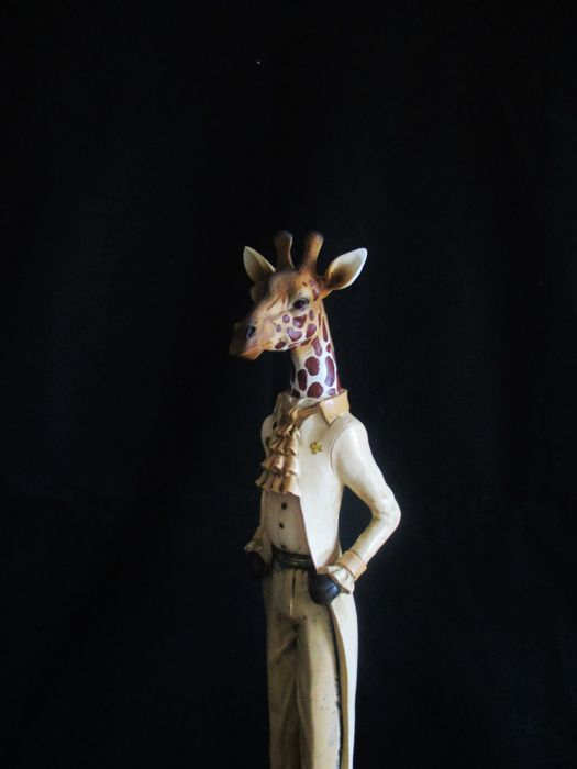 Ornamental Giraffe with gentleman clothing (56cmH)