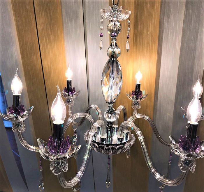 Full faceted crystal chandelier, with Valfour 31% lead rhinestones - new and recently manufactured