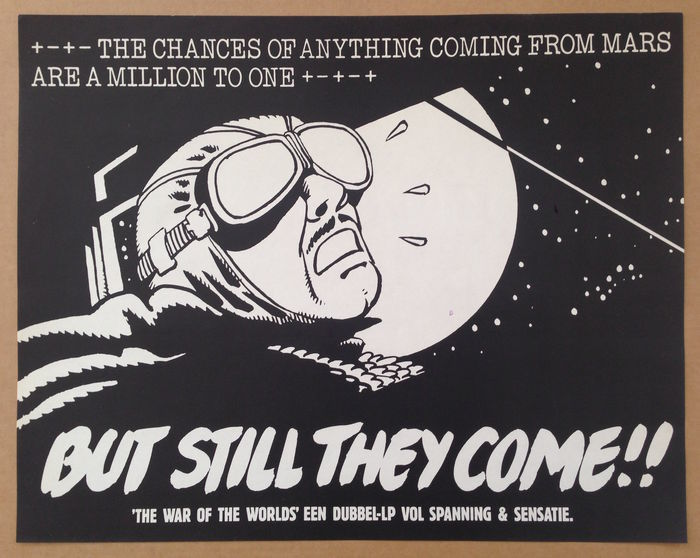 6 reclameposters War of the Worlds - (1978)