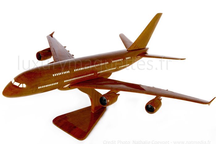 wood model airplane scale model A380 aviation
