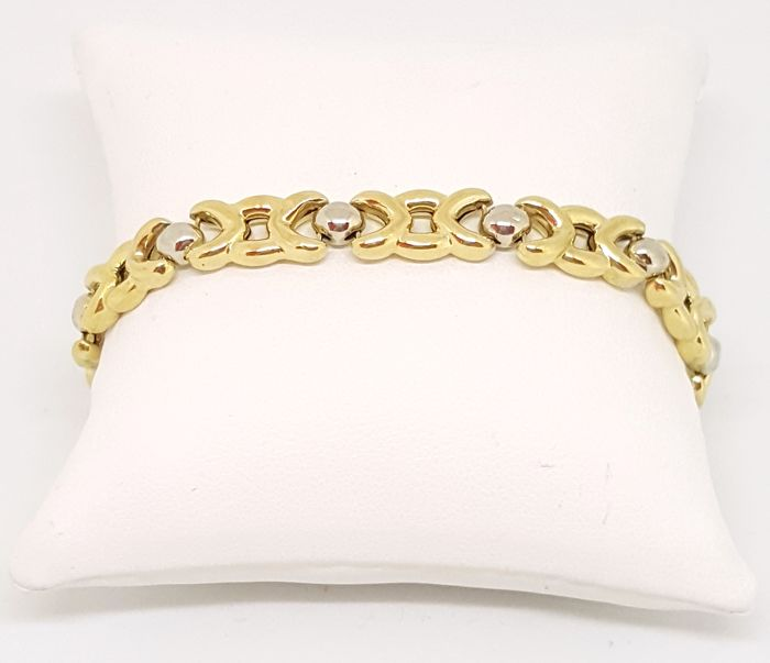 Chimento - Branded bracelet in 18kt yellow and white gold, length 20 cm, weight 13.18 g