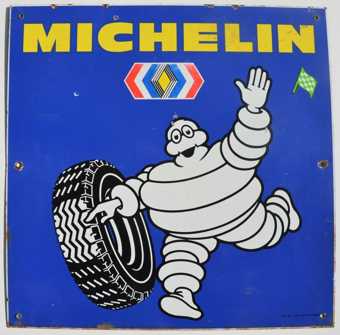 MICHELIN enamelled metal sign - Italy, 1950s/60s - 100% original