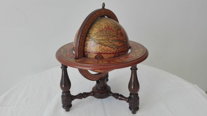 Antique globe - 1950s - Italy - wood
