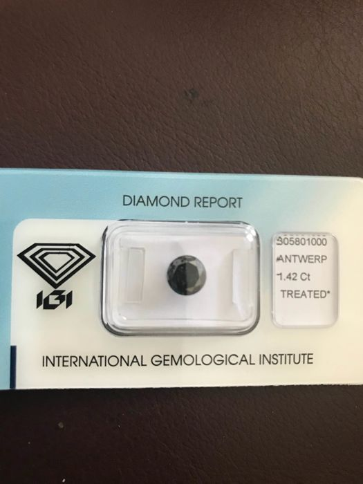 1.42ct natural black diamond