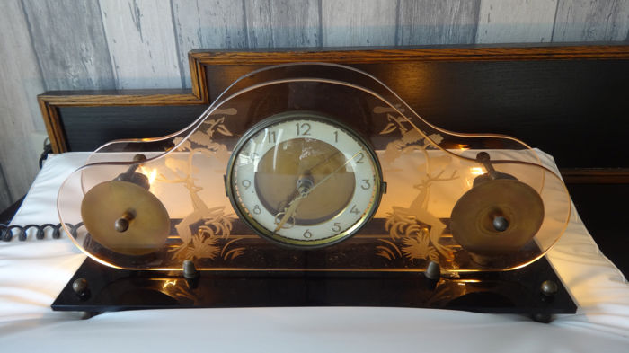Art Deco clock Jacob Palmtag in good working condition