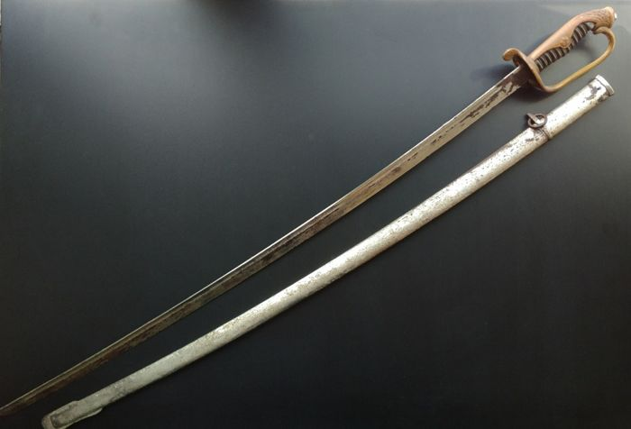 Original Imperial Japanese WW2 Type 19 Company Grade Kyu-Gunto Dress Sword