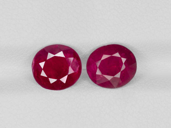 Two Rubies - 3.13 ct total