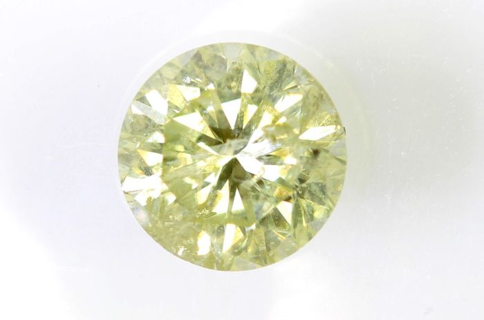 AIG Sealed Diamant - 0.62 ct - Fancy Light Yellow