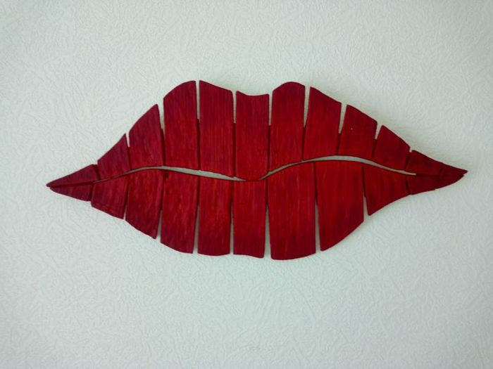 "Wall decoration - art work ""Red lips"", big size!"