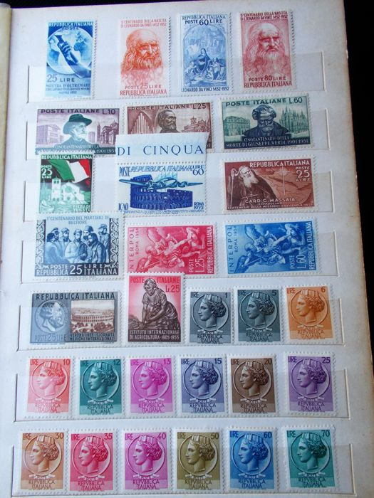 Italy Kingdom/Republic  1952/1982 - Lot of stamps of the period