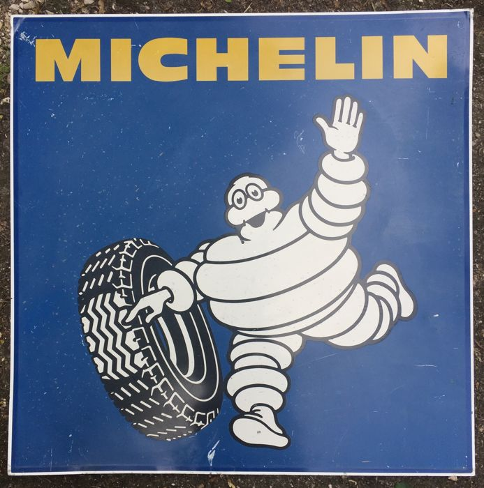 Double-faced metal sheet - Michelin, Bibendum - 1960s