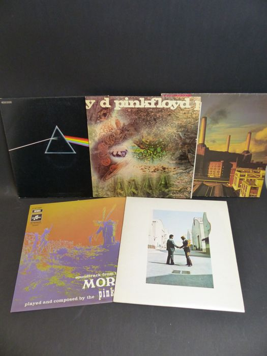 5 LP's of Pink Floyd, originals french pressing